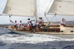The great race crew on Desiderata during Antigua Classic Yacht Regatta 2014.
