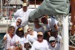 Crew on Desiderata during the Antigua Classic Yacht Regatta 2014.
