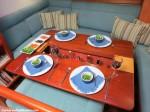 S/Y Desiderata | Saloon Dining Table | Interior