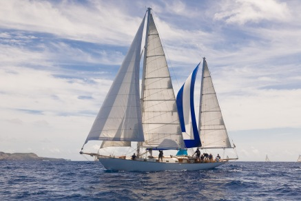 SY Desiderata racing at the Antigua Classic Regatta 2011.